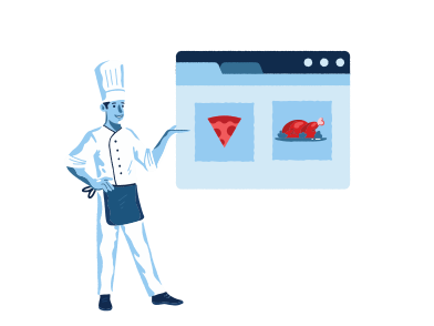style Online restaurant menu images in PNG and SVG | Icons8 Illustrations