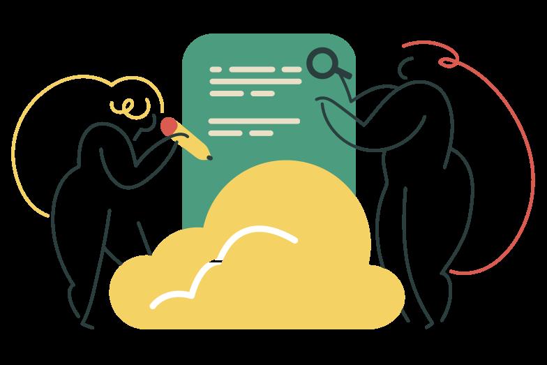 Клипарт Облачное сотрудничество в PNG и SVG