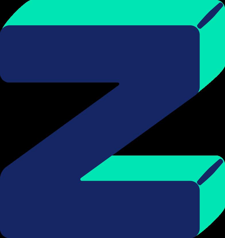 letter z Clipart illustration in PNG, SVG