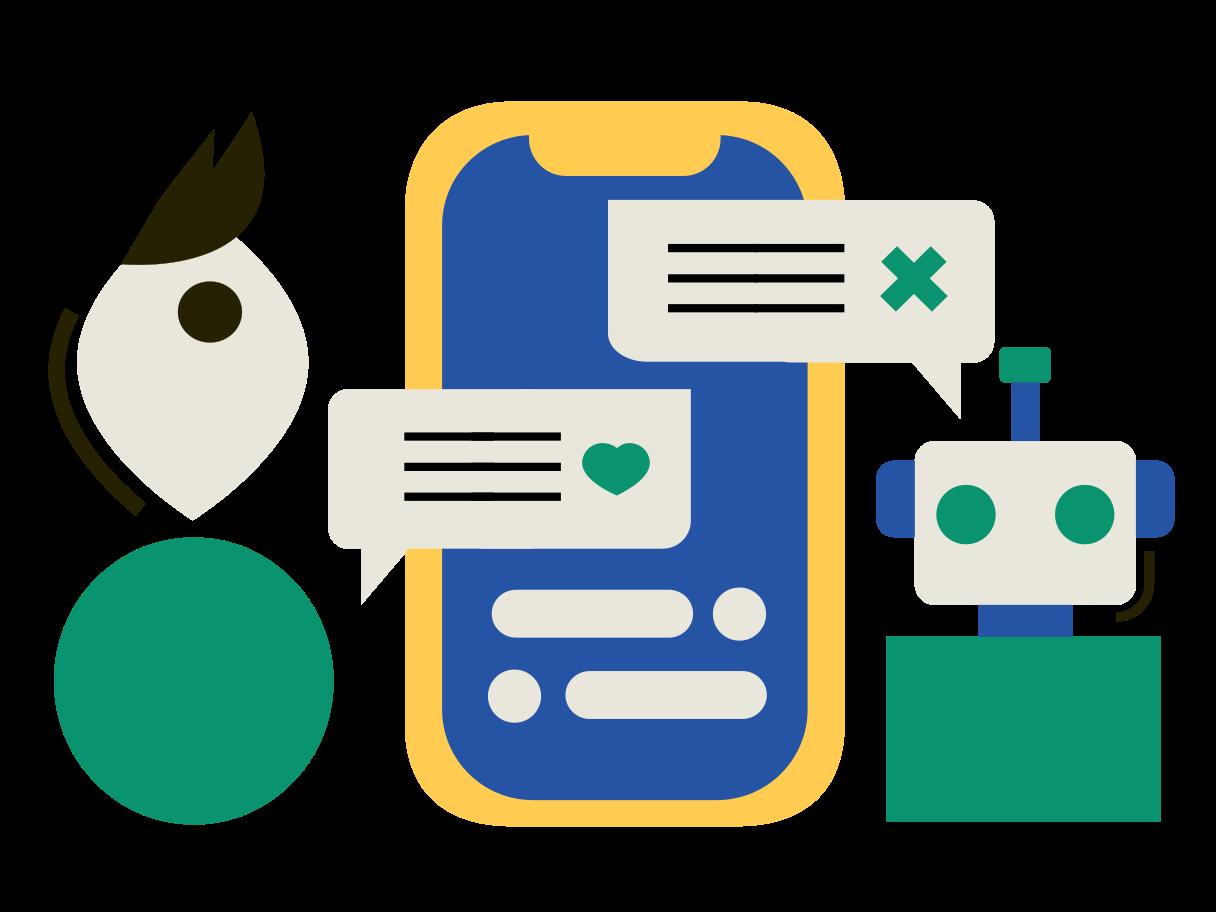 Chatbot Clipart illustration in PNG, SVG