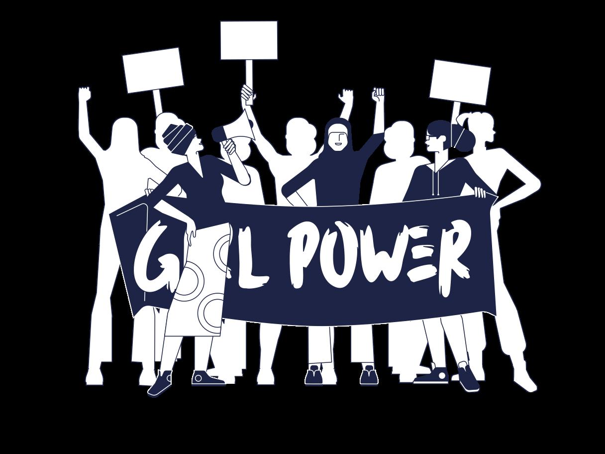 Frauenpower Clipart-Grafik als PNG, SVG