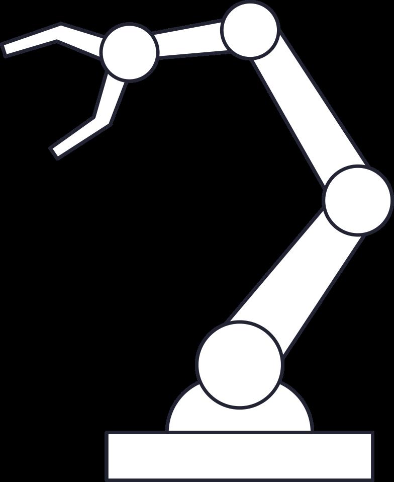 Ilustración de clipart de robotic hand en PNG, SVG