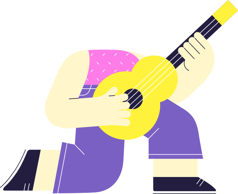 guitar player  body Clipart illustration in PNG, SVG