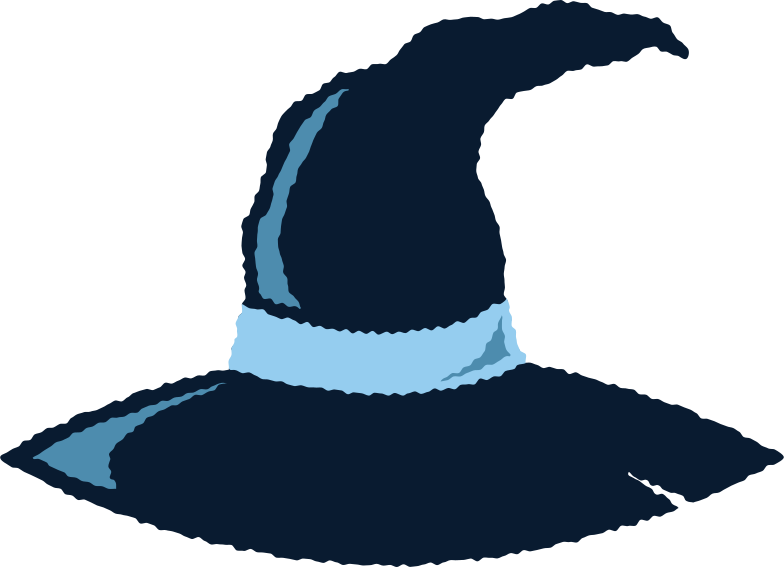 witch hat Clipart illustration in PNG, SVG