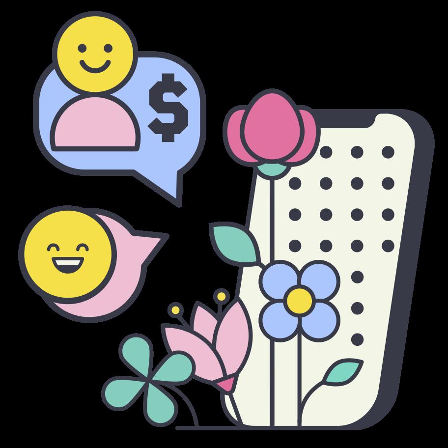 Order for flowers Clipart illustration in PNG, SVG