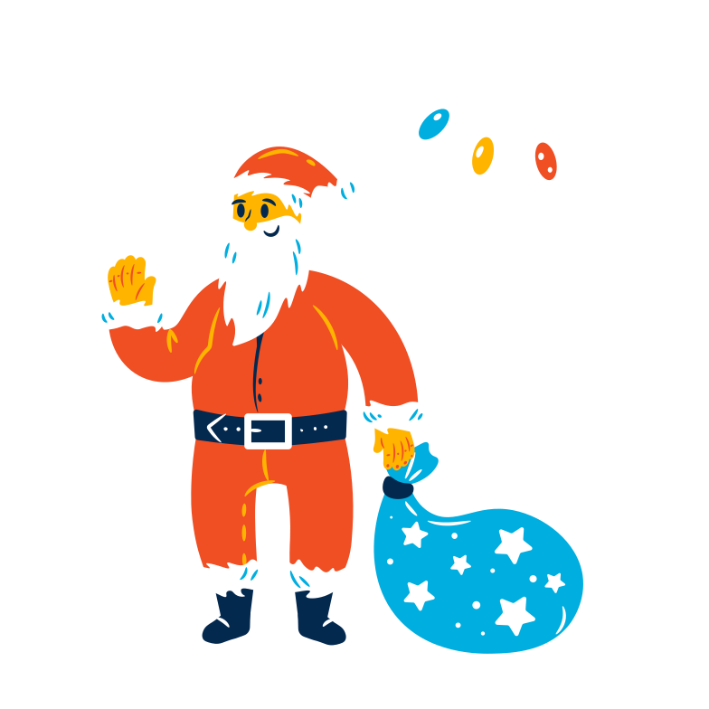 style Santa with gifts Vector images in PNG and SVG | Icons8 Illustrations