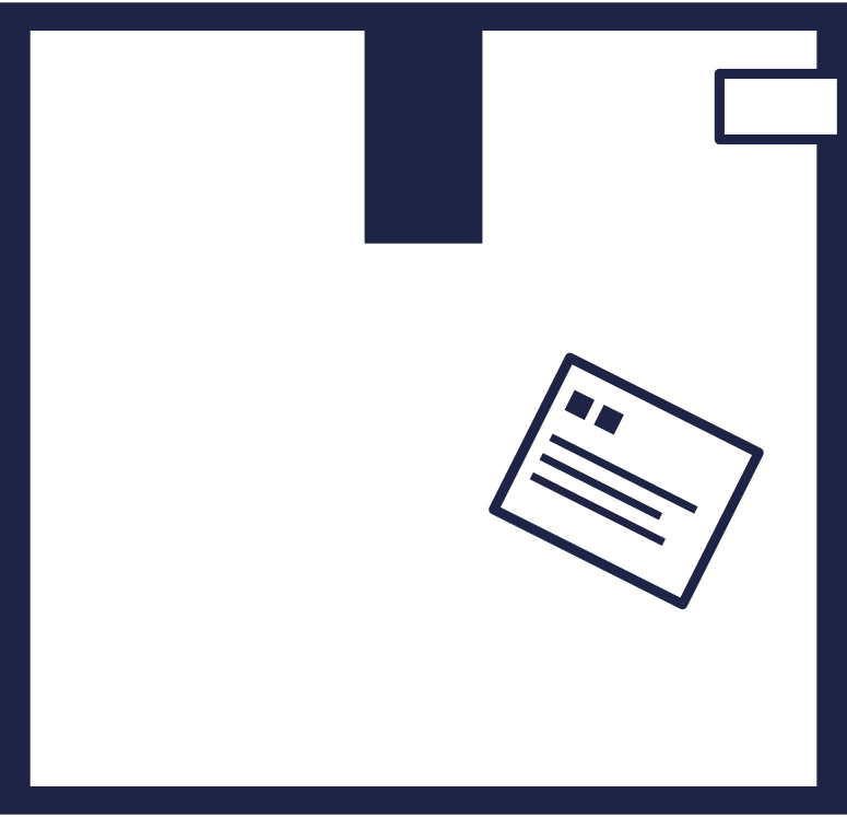 order completed  box 1 line Clipart-Grafik als PNG, SVG