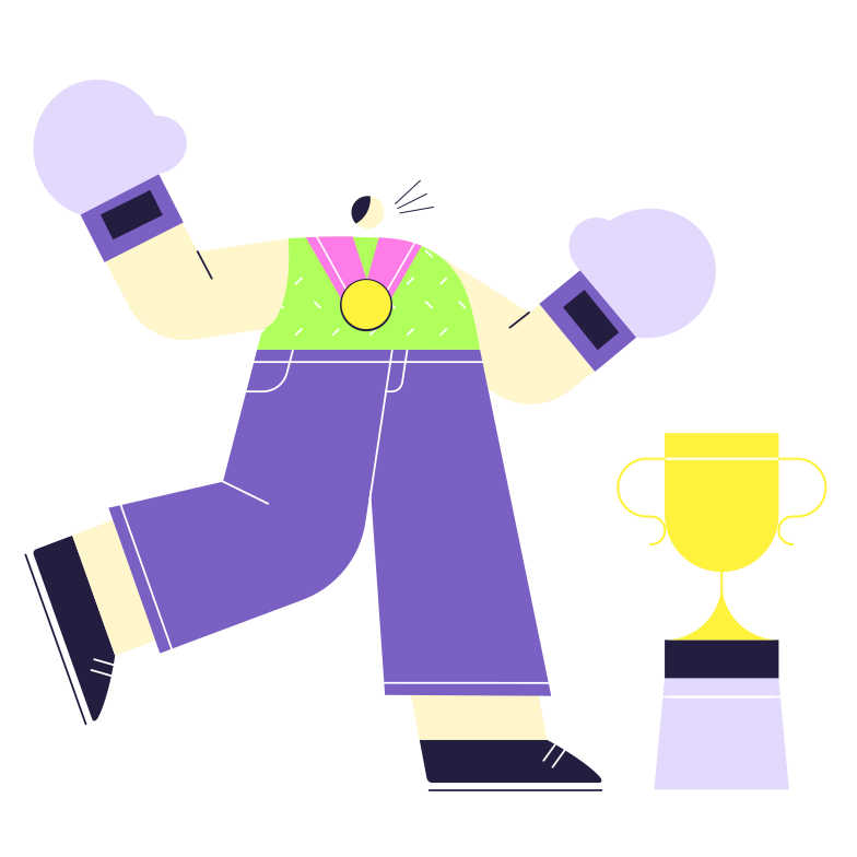 Boxing Champion Clipart illustration in PNG, SVG