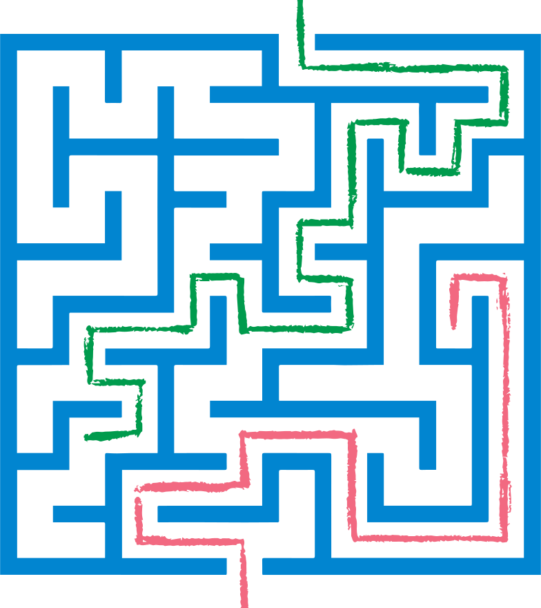 style red and green path maze Vector images in PNG and SVG | Icons8 Illustrations