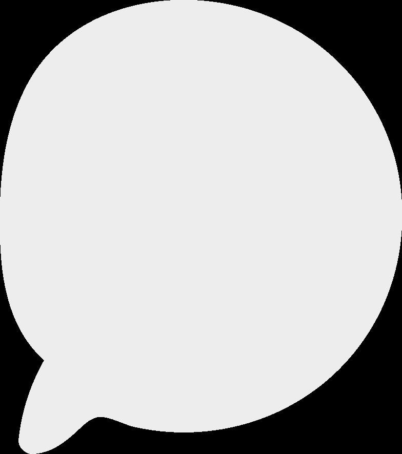 Dialogwolke Clipart-Grafik als PNG, SVG
