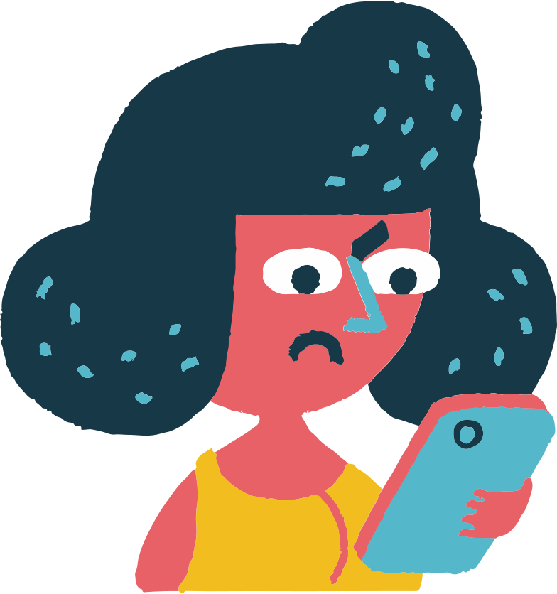 woman with phone Clipart illustration in PNG, SVG