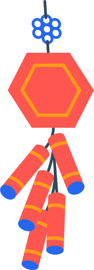 chinese firecrackers Clipart illustration in PNG, SVG