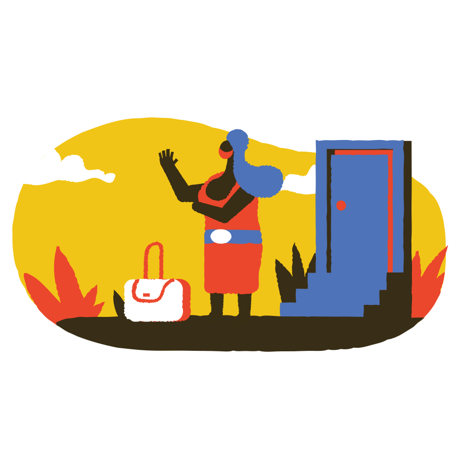 Going traveling with mask Clipart illustration in PNG, SVG