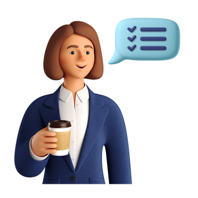 style Businesswoman with coffee images in PNG and SVG | Icons8 Illustrations