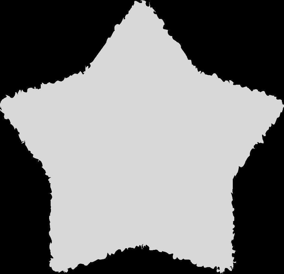 Ilustración de clipart de Estrella gris en PNG, SVG