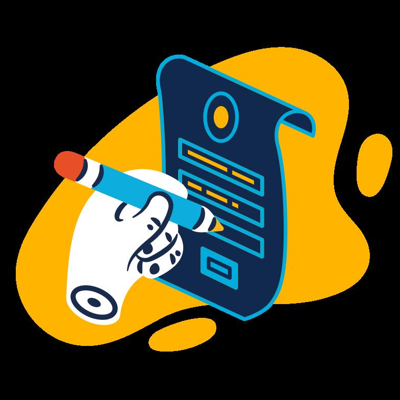 Illustration clipart Remplissez le document aux formats PNG, SVG