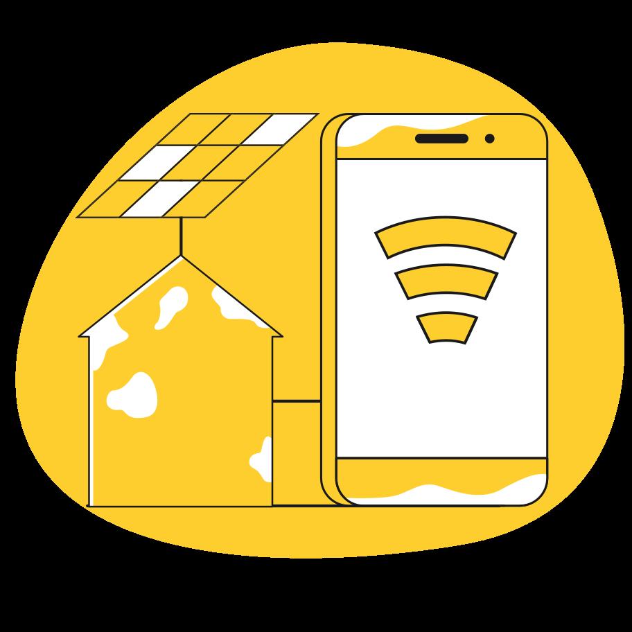 Smart house Clipart illustration in PNG, SVG