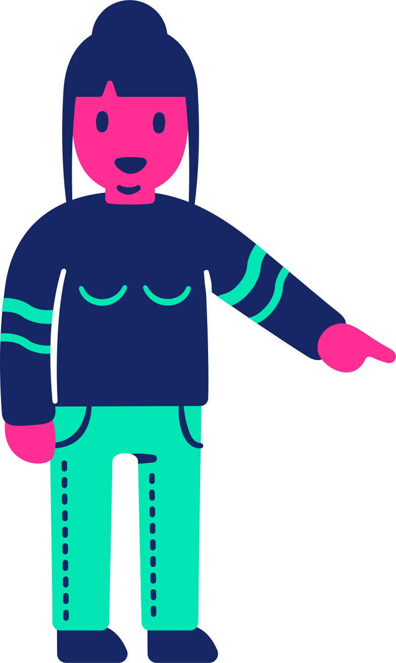 style man pointing down Vector images in PNG and SVG | Icons8 Illustrations