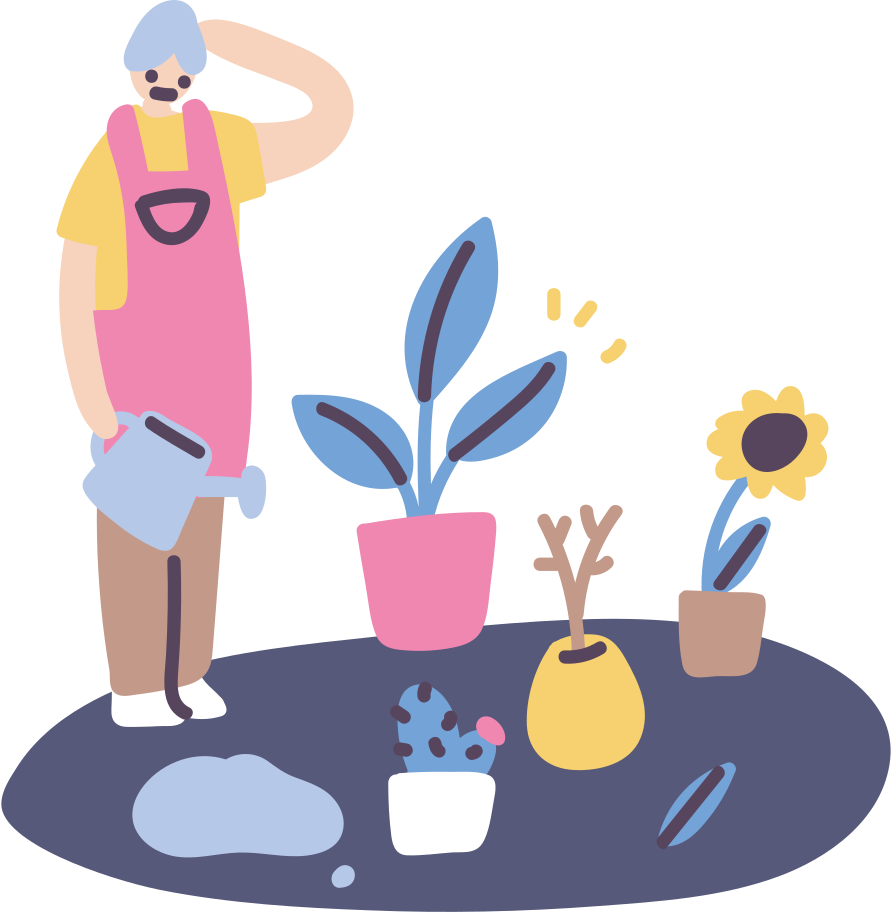 Plant growth, success! Clipart illustration in PNG, SVG