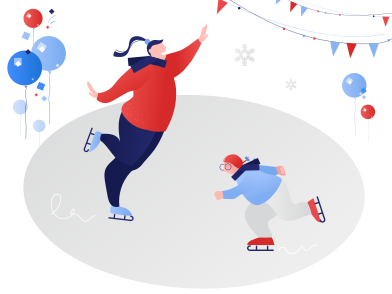 style Skate on ice images in PNG and SVG | Icons8 Illustrations