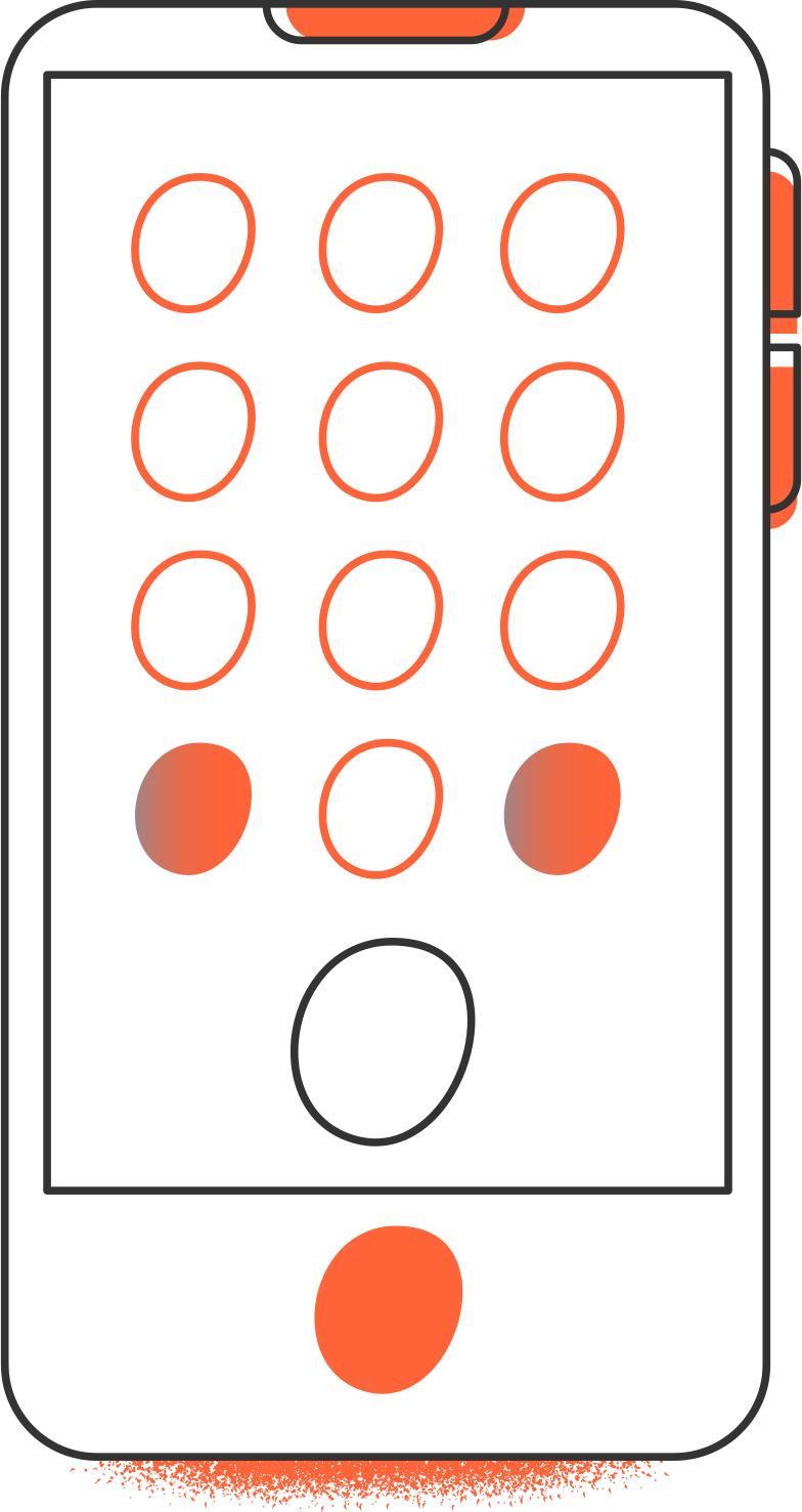 smartphone back Clipart illustration in PNG, SVG