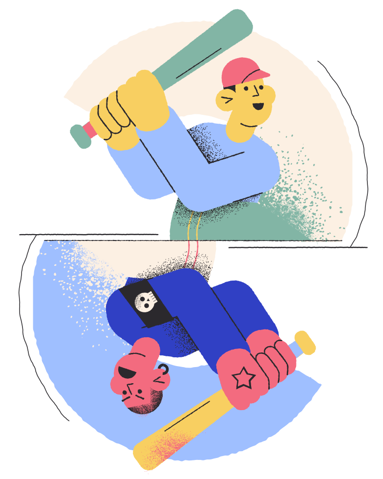 Two ways Clipart illustration in PNG, SVG