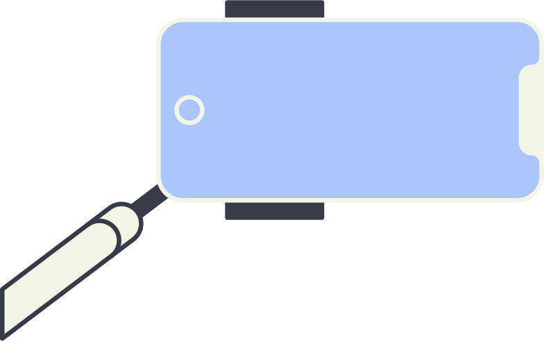 style selfie stick Vector images in PNG and SVG | Icons8 Illustrations