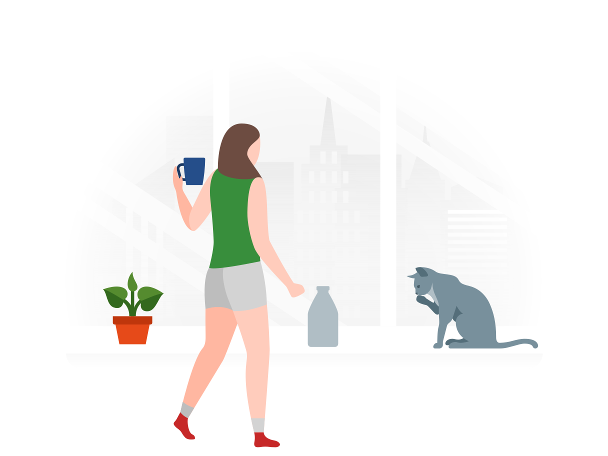 Drinking milk Clipart illustration in PNG, SVG
