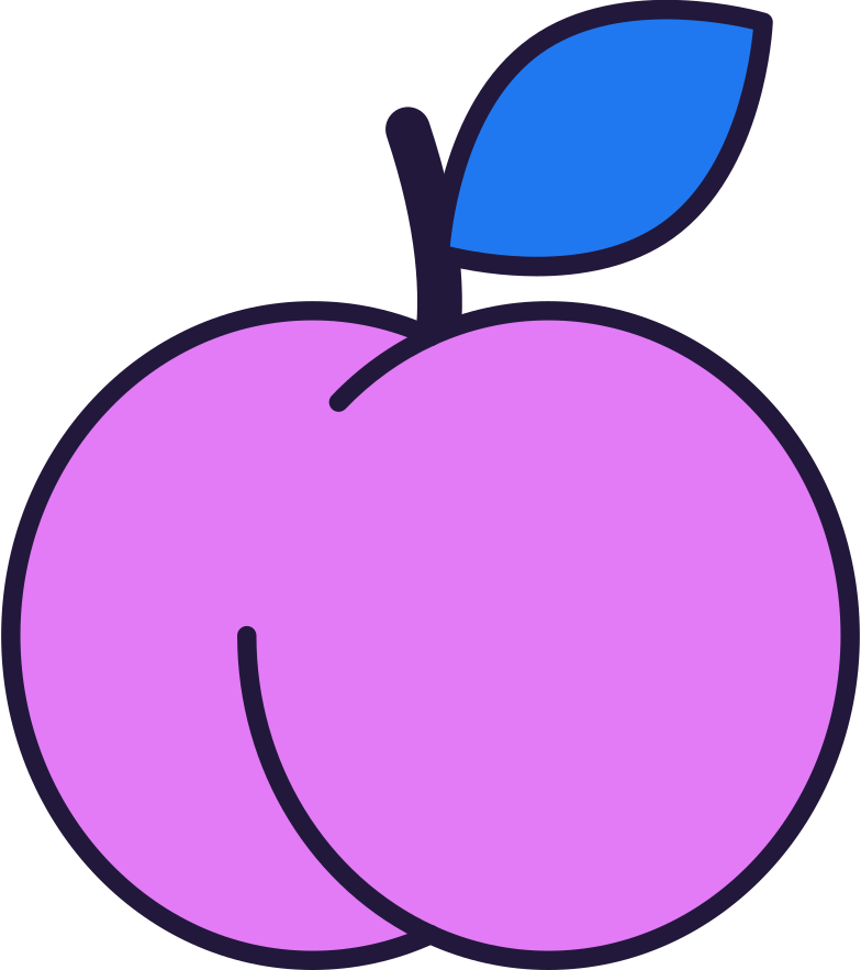 peach Clipart illustration in PNG, SVG