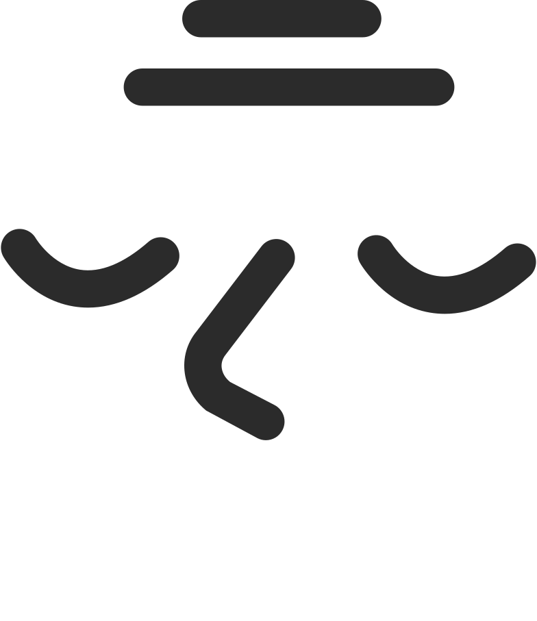 old peceful smiling face Clipart illustration in PNG, SVG