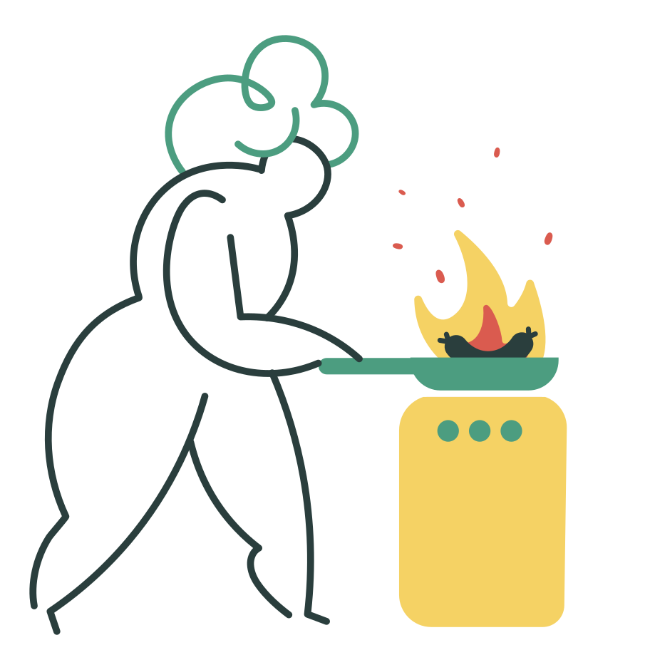 style Burnt dinner Vector images in PNG and SVG | Icons8 Illustrations