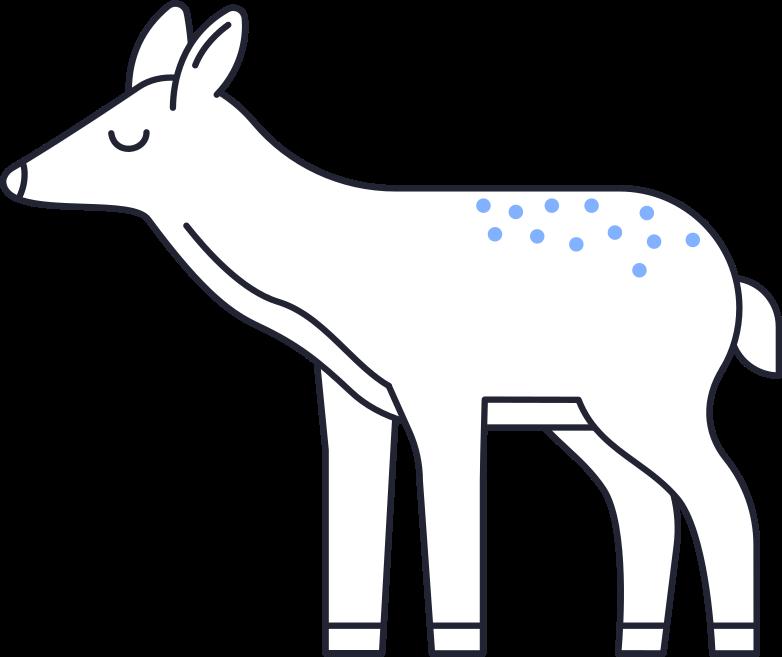 animal care  deer Clipart-Grafik als PNG, SVG