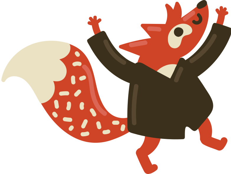 fox student Clipart illustration in PNG, SVG