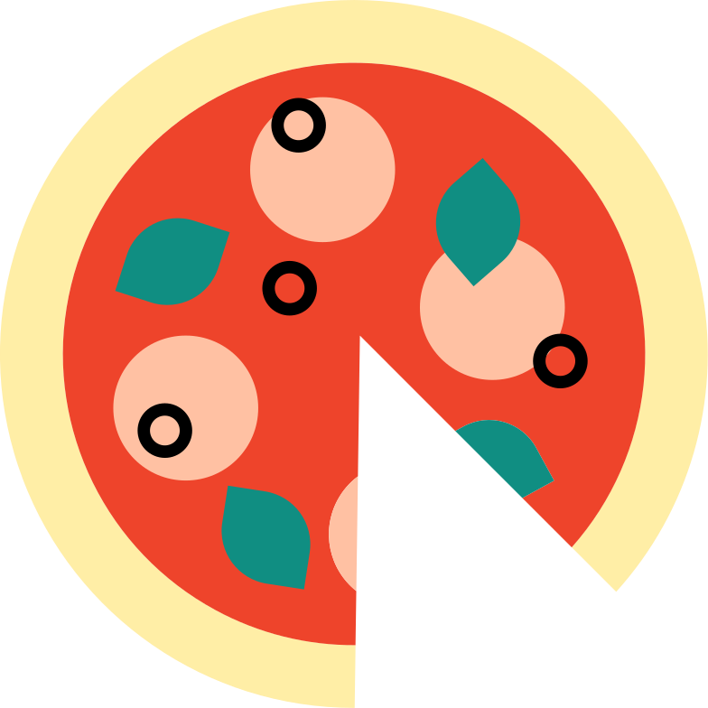 pizza Clipart illustration in PNG, SVG