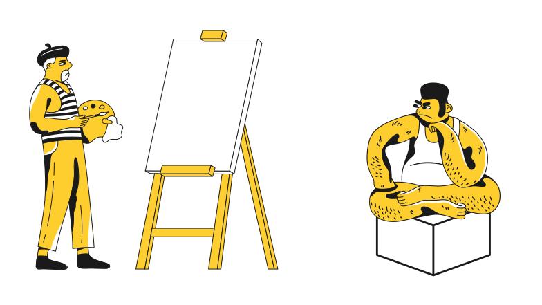 Life drawing Clipart illustration in PNG, SVG
