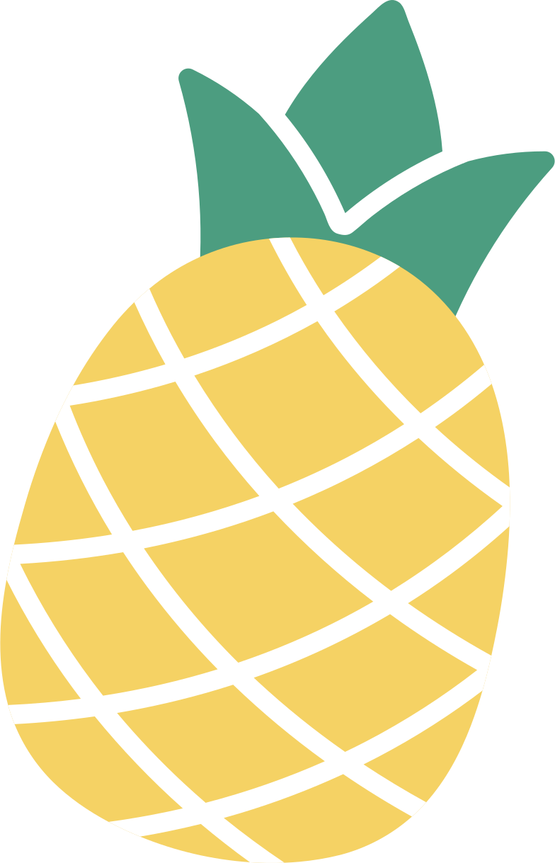 order complete  pineapple Clipart illustration in PNG, SVG