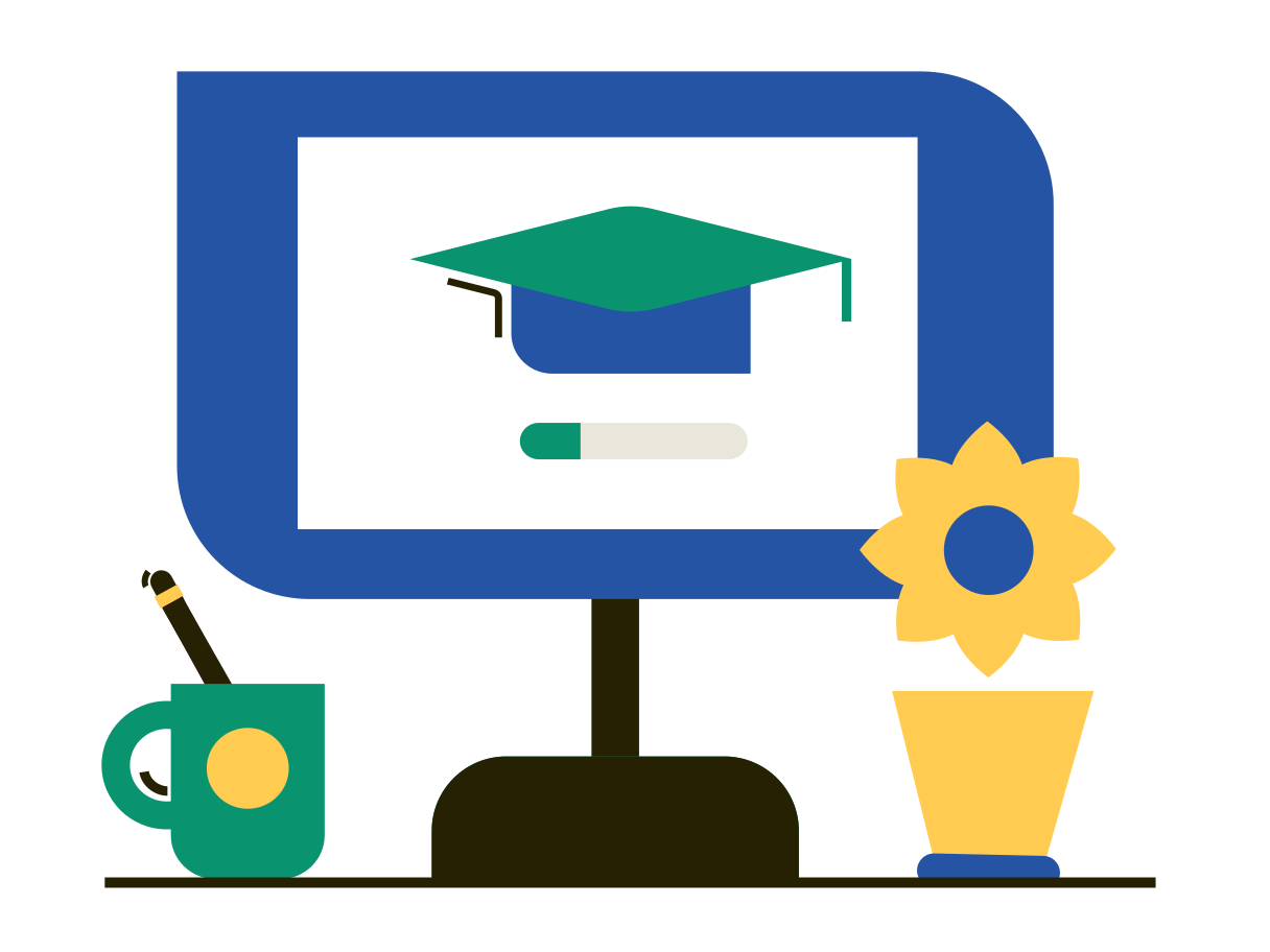 Remote education  Clipart illustration in PNG, SVG