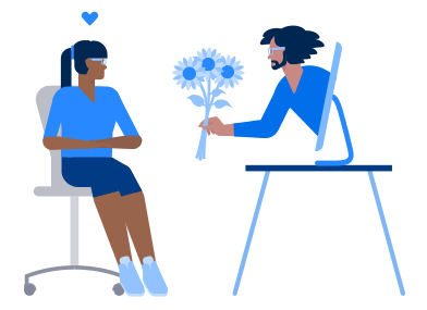 style Love on the distance images in PNG and SVG | Icons8 Illustrations