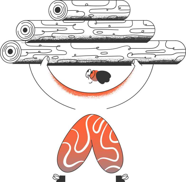man with logs Clipart illustration in PNG, SVG