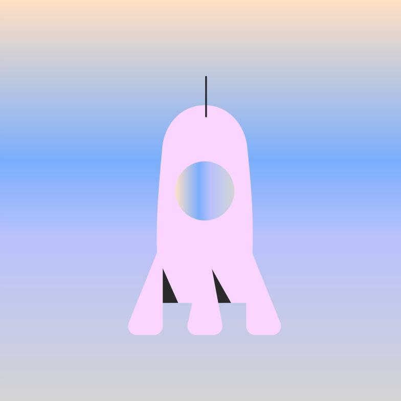 Ilustración de clipart de Cohete en PNG, SVG
