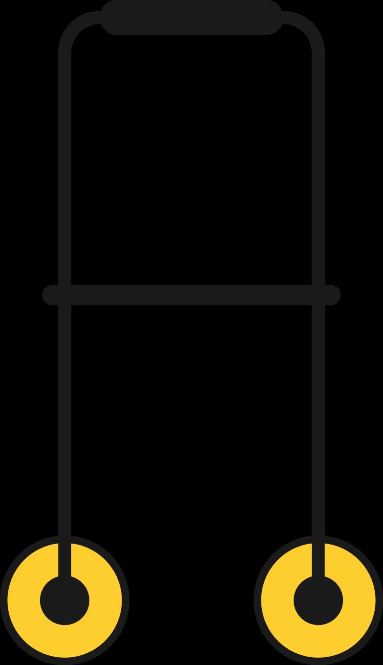 handicap walker Clipart illustration in PNG, SVG