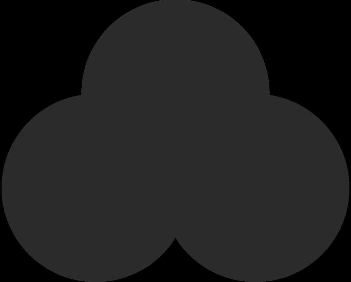 trefoil black Clipart illustration in PNG, SVG