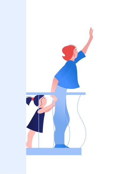 style Waving from the balcony images in PNG and SVG | Icons8 Illustrations