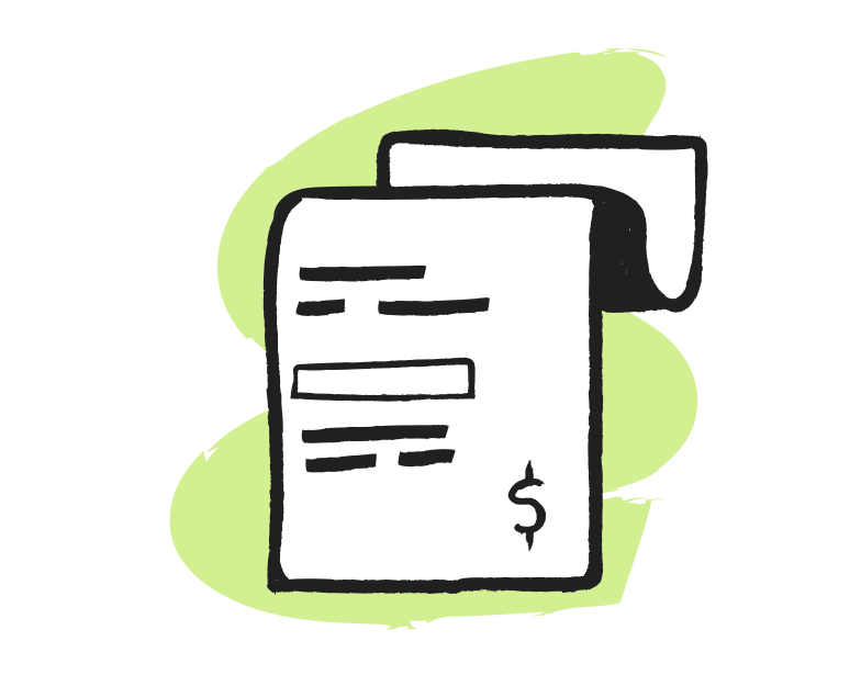 Receipt Clipart illustration in PNG, SVG