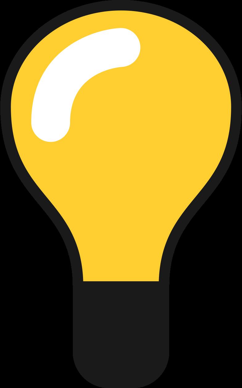 light bulb on Clipart illustration in PNG, SVG