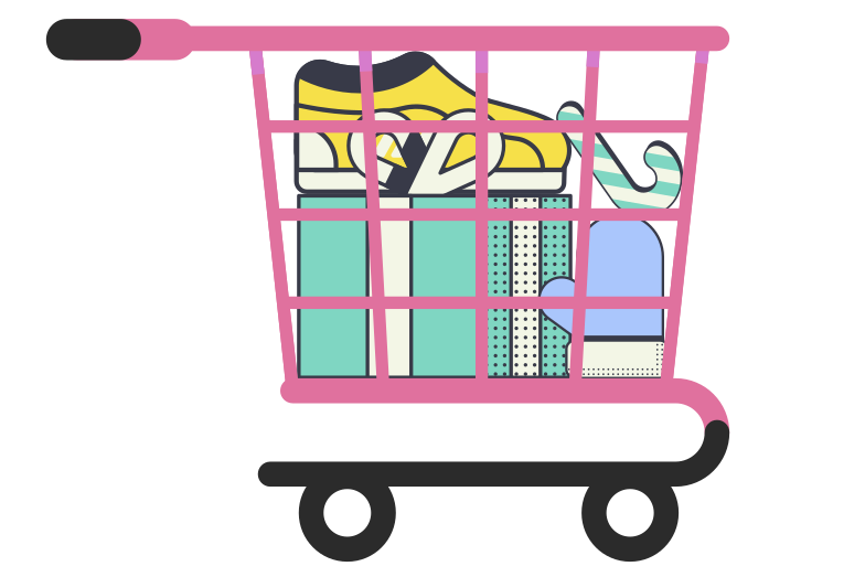 style Christmas shopping cart Vector images in PNG and SVG | Icons8 Illustrations