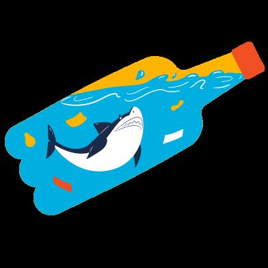 Иллюстрация Загрязнение океана в стиле  в PNG и SVG | Icons8 Иллюстрации