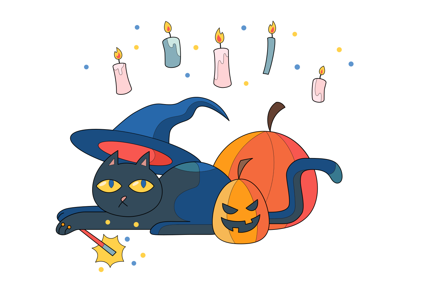 Witch familiar Clipart illustration in PNG, SVG