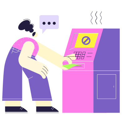 style Broken ATM images in PNG and SVG | Icons8 Illustrations