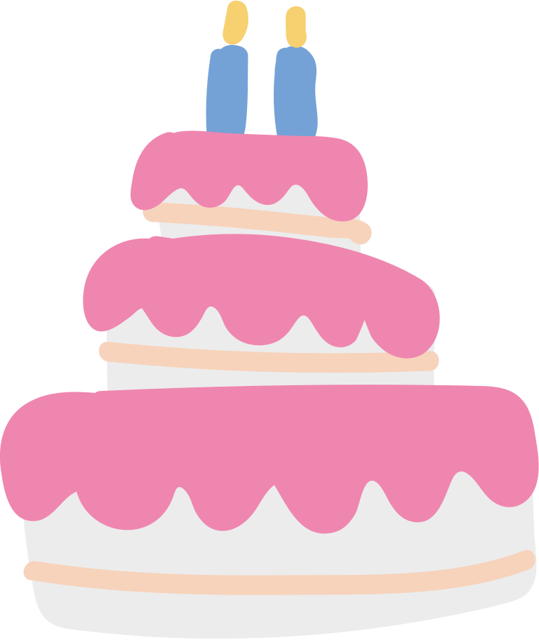 birthdaycake Clipart illustration in PNG, SVG
